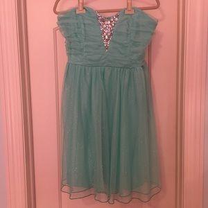 Size 20 Deb Aqua Formal Dress